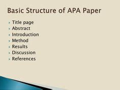 APA Style for Research Papers - docstylescom